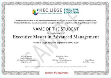 高级企业管理硕士学位班